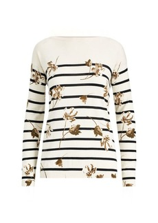Ralph Lauren Floral Striped Cotton Top