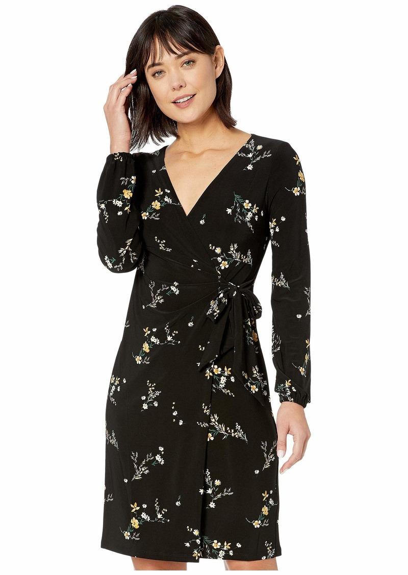 Ralph Lauren Floral Tie-Front Jersey Dress