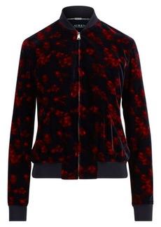 Ralph Lauren Floral Velvet Bomber Jacket