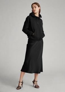 Ralph Lauren Flounced-Hem Satin Midi Skirt