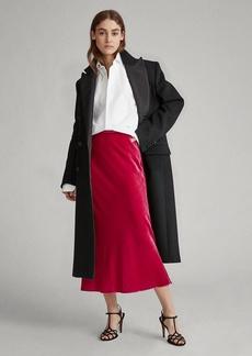 Ralph Lauren Flounced-Hem Velvet Midi Skirt