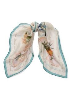Ralph Lauren Flower Silk Scarf