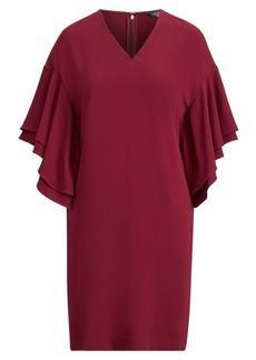Ralph Lauren Flutter-Sleeve Shift Dress