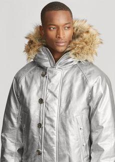 Ralph Lauren Foil Leather Down Jacket