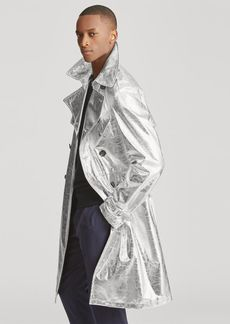 Ralph Lauren Foil Leather Trench Coat