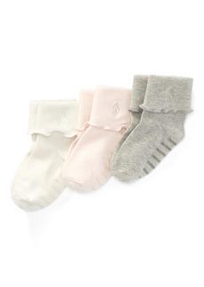 Ralph Lauren Fold-Over-Cuff Sock 3-Pack