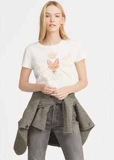Ralph Lauren Fox-Print Graphic T-Shirt