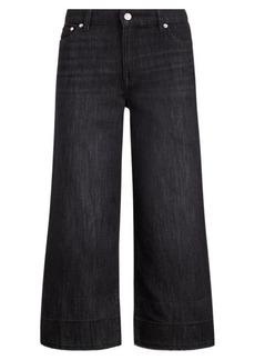 Ralph Lauren Frayed Wide-Leg Crop Jean