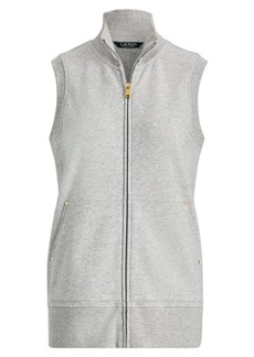 Ralph Lauren French Terry Full-Zip Vest