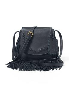 Ralph Lauren Fringe Leather Crossbody Bag