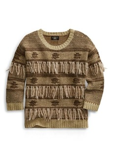 Ralph Lauren Fringe Silk-Blend Sweater