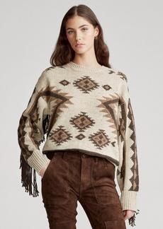Ralph Lauren Fringe-Trim Wool Sweater