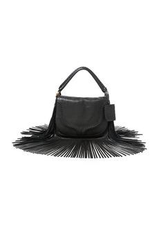 Ralph Lauren Fringed Leather Saddle Bag