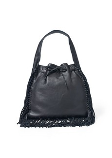 Ralph Lauren Fringed Leather Sling Bag