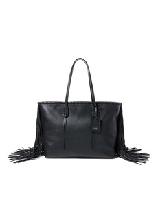 Ralph Lauren Fringed Leather Tote