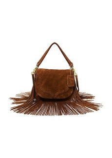 Ralph Lauren aFeoOverrideAttrRead('img', 'src')Fringed Suede Saddle Bag