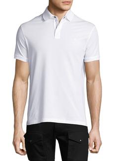 Ralph Lauren Front-Zip Pique Polo Shirt  White