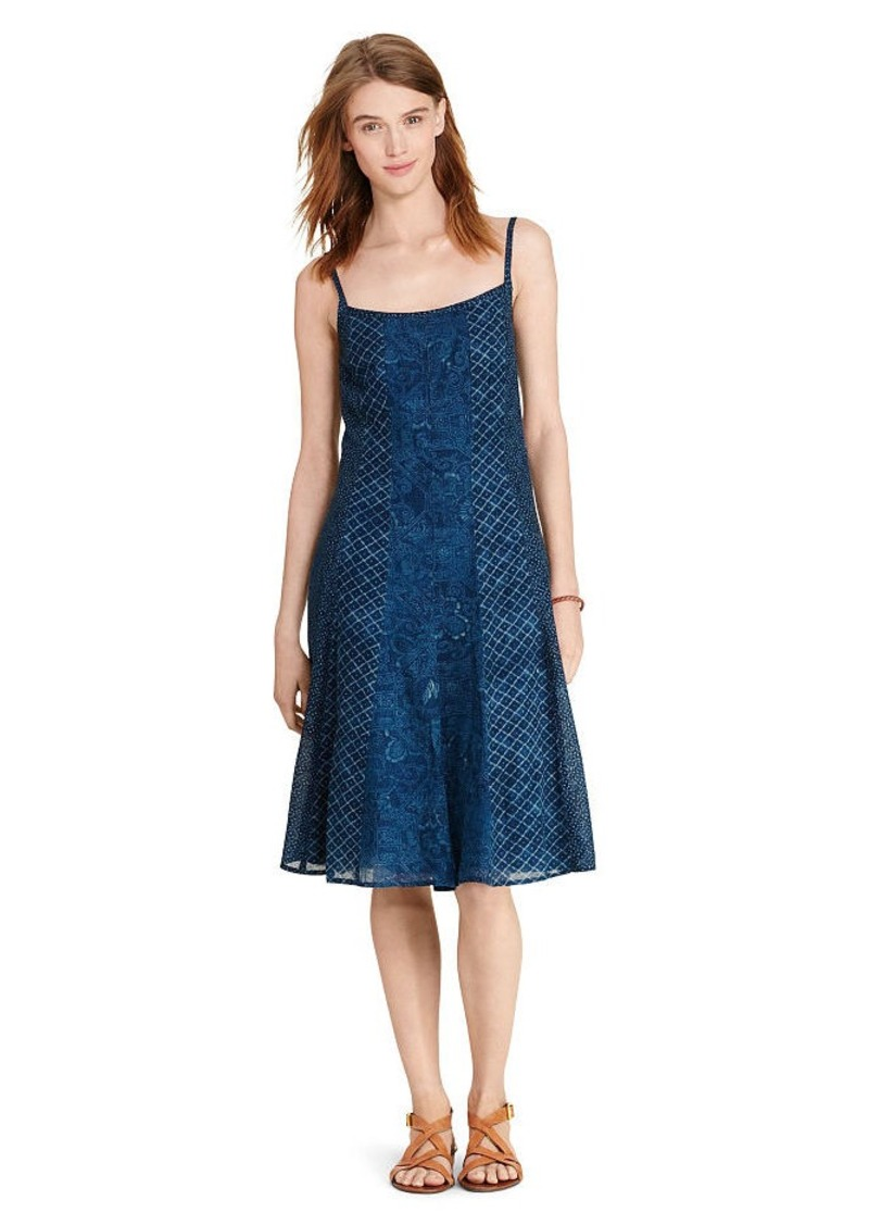 Ralph Lauren Gauze Fit-and-Flare Dress
