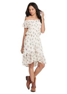 Ralph Lauren Gauze Off-the-Shoulder Dress