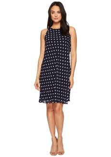Ralph Lauren Geminah Classy Dot Georgette Dress