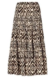 Geometric Cotton Maxiskirt