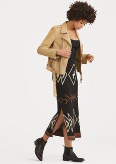 Ralph Lauren Geometric Linen-Blend Skirt