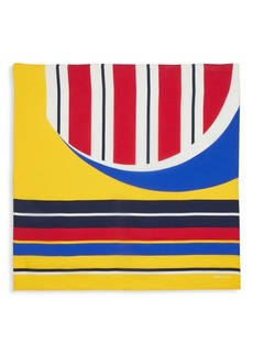 Ralph Lauren Geometric-Print Colorful Silk Scarf