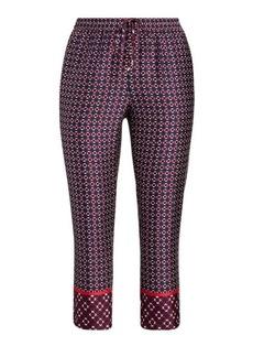 Ralph Lauren Geometric-Print Twill Pant