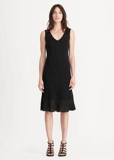 Geometric Ruffled Knit Dress