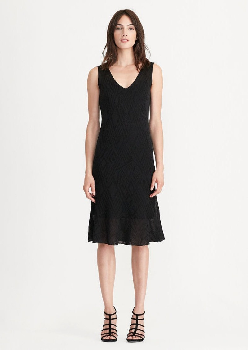 Ralph Lauren Geometric Ruffled Knit Dress