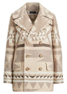 Ralph Lauren Geometric Wool Peacoat