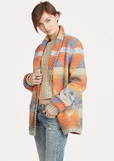 Ralph Lauren Geometric Wool Shawl Coat