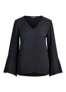 Ralph Lauren Georgette Bell-Sleeve Top