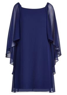 Ralph Lauren Georgette Cape Dress