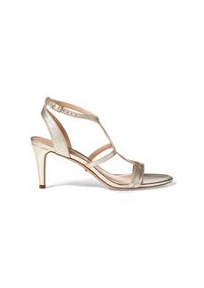 Ralph Lauren Gilah Metallic Leather Sandal