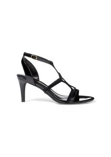 Ralph Lauren Gilah Suede-Patent Sandal