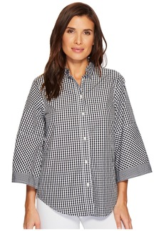Ralph Lauren Gingham Bell-Sleeve Shirt