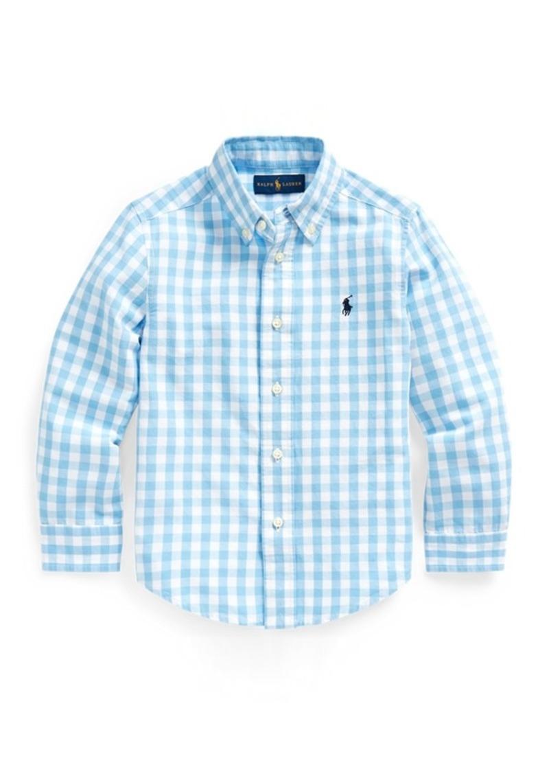Ralph Lauren Gingham Cotton-Blend Shirt
