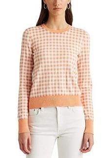 Ralph Lauren Gingham Cotton-Modal Sweater
