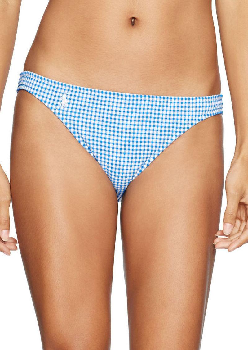 Ralph Lauren aFeoOverrideAttrRead('img', 'src')Gingham Hipster Bikini Bottom