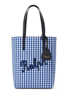 Ralph Lauren Gingham Mini Modern Tote Bag