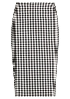 Ralph Lauren Gingham Pencil Skirt