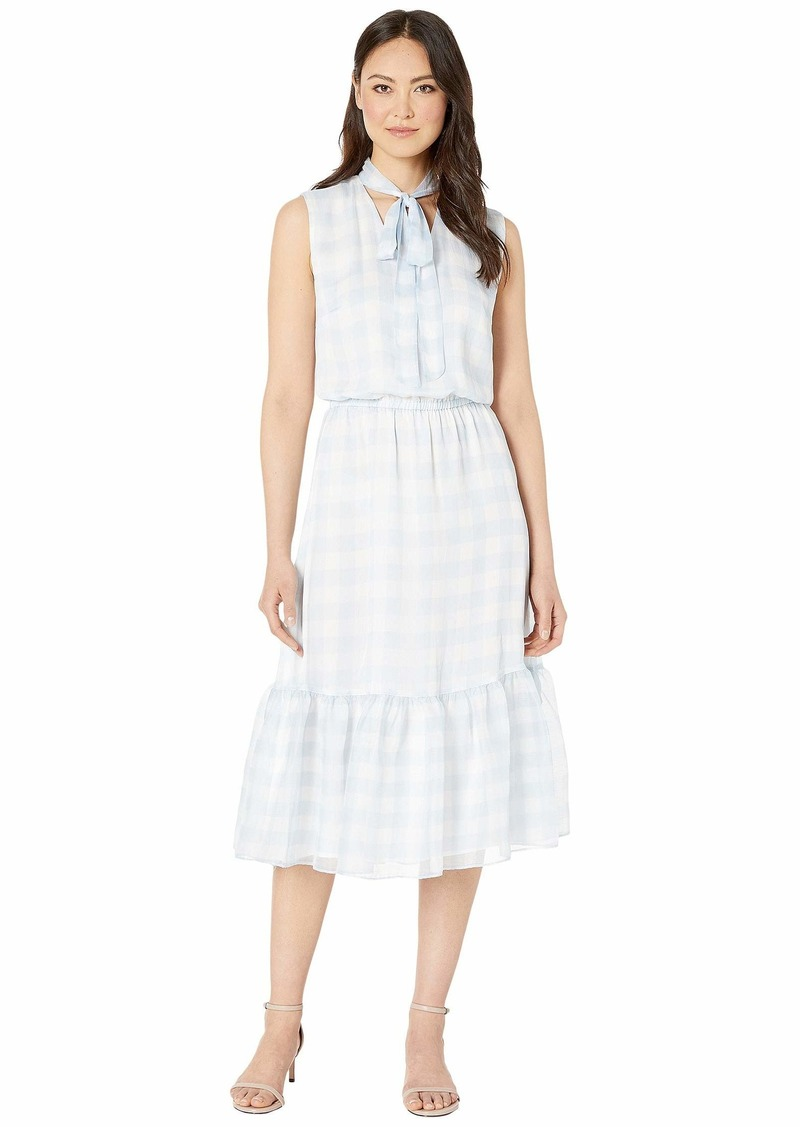 Ralph Lauren Gingham Tie Neck Dress