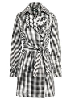 Ralph Lauren Gingham Twill Trench Coat