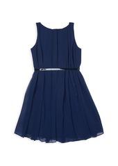 Ralph Lauren Girl's Belted Chiffon A-Line Dress