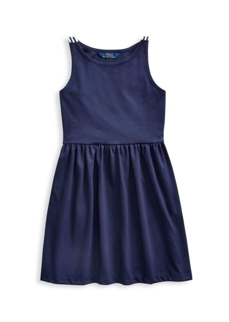 Ralph Lauren Girl's Bow Ponte A-Line Dress