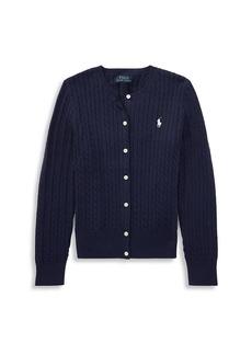 Ralph Lauren Girl's Cable-Knit Cotton Cardigan