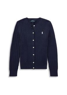 Ralph Lauren Girls' Cable-Knit Cotton Cardigan