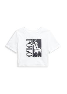 Ralph Lauren Girl's Cotton Cropped T-Shirt
