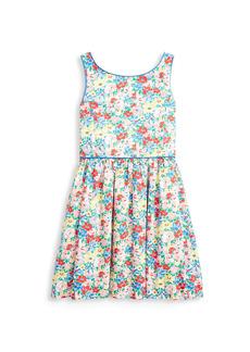 Ralph Lauren Girl's Floral Cotton Poplin Dress